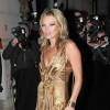 Kate Moss Leaves After Party in Gold Dress At 50 StJames's in Mayfair, London