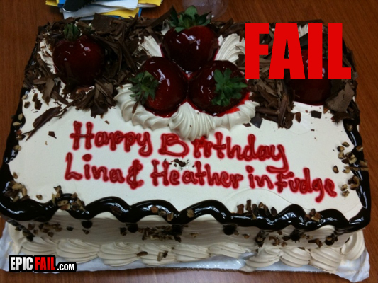 Birthday Cake Messages Fail