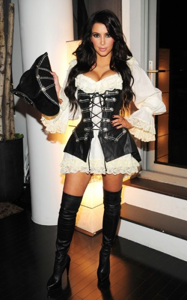 It is international talk like a pirate day and to celebrate here   s a    Kim Kardashian Halloween Costume 2013