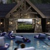 A swimming pool that doubles as a home theater