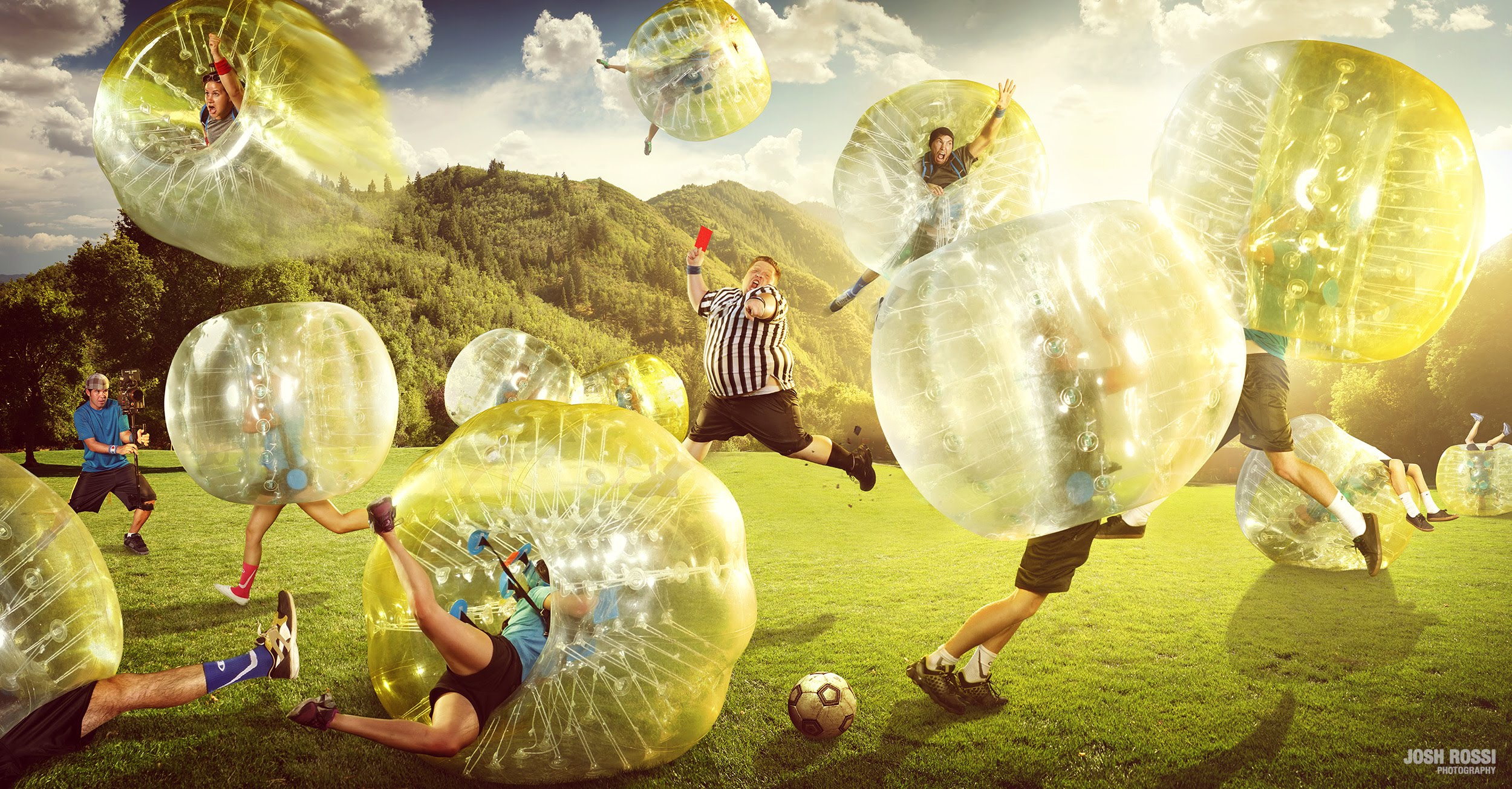 Epic Bubble Soccer Match