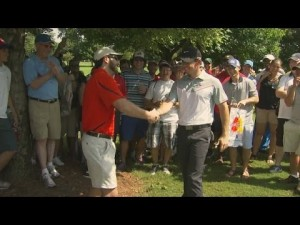 Rory McIlroy's golf ball finds fan's pocket