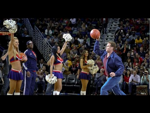 Will Ferrell Hits Cheerleader with Basketball