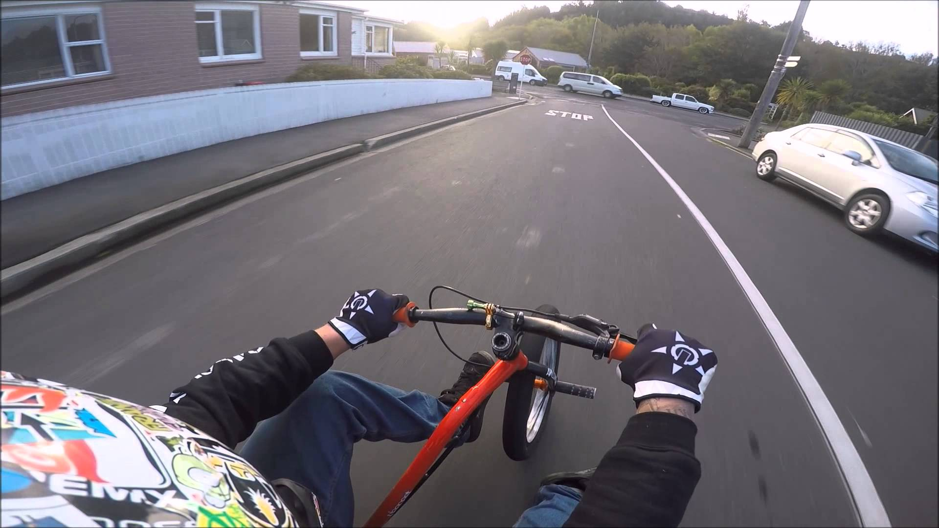 Drift trike on the worlds steepest street