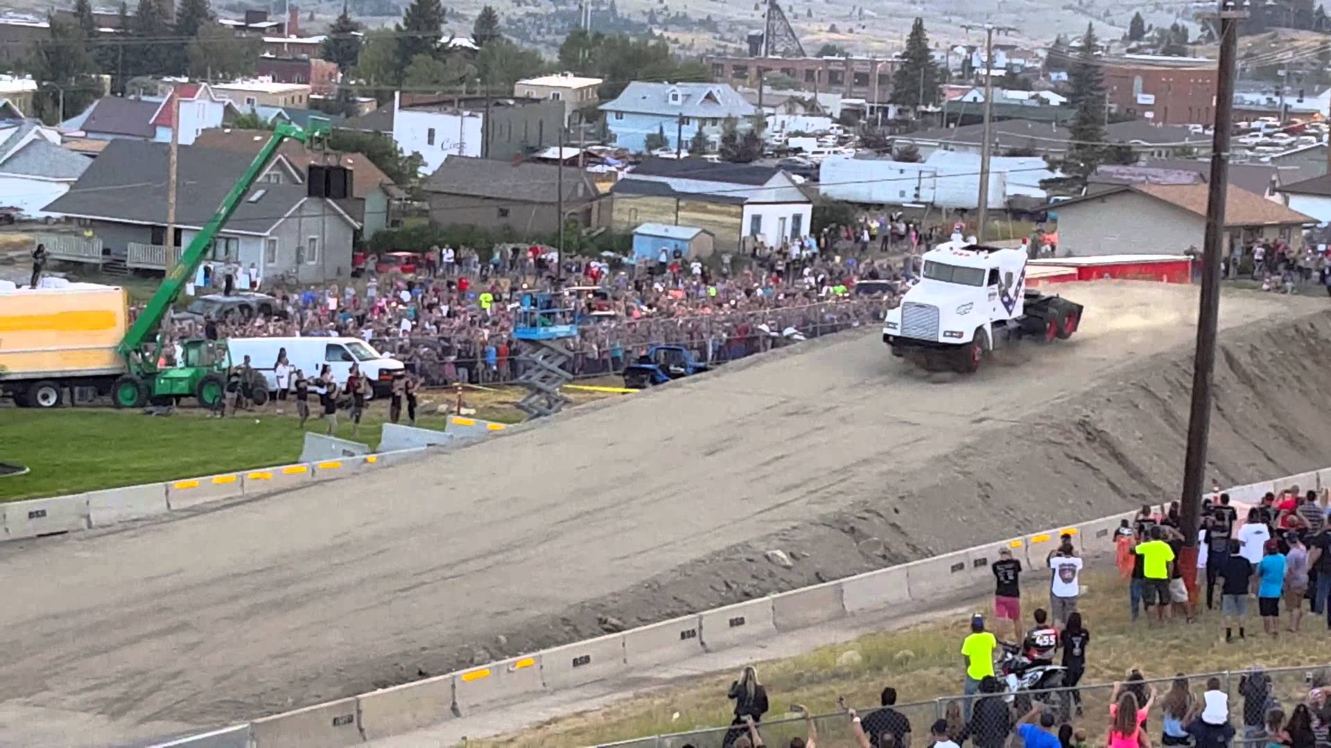 World Record Semi Truck Jump