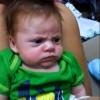 Adorably grumpy baby
