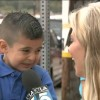 Reporter makes kid cry