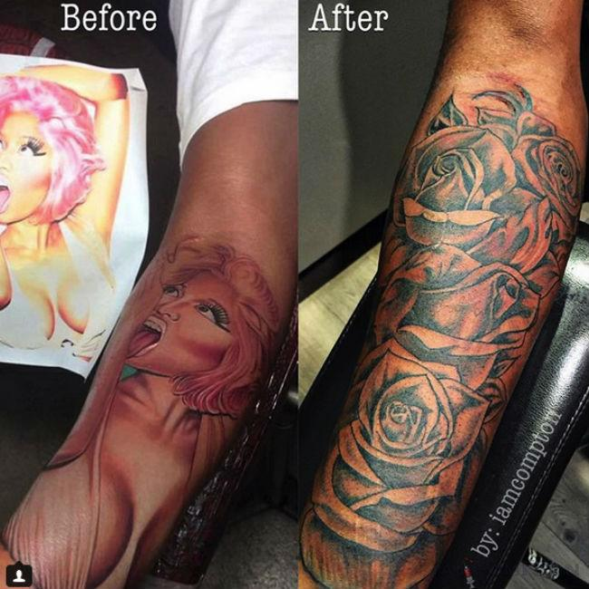 nicki_minajs_ex_covers_up_tattoo_of_her_face.jpg