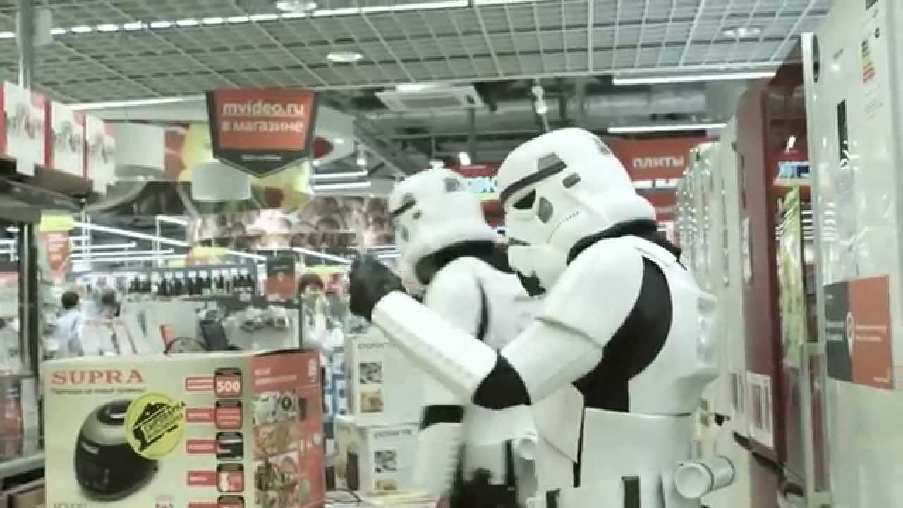 What happens when Stormtroopers go shopping?