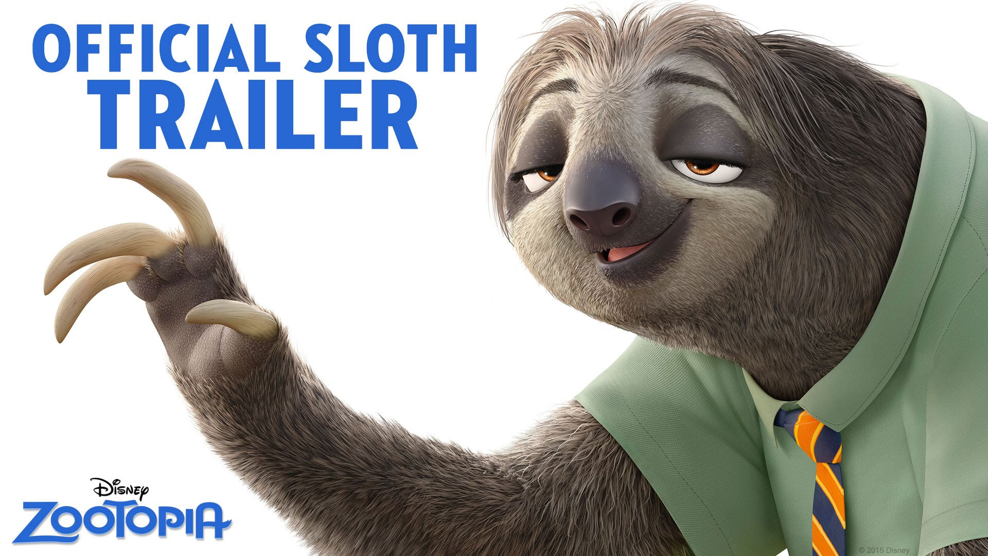 Zootopia Official Sloth Trailer