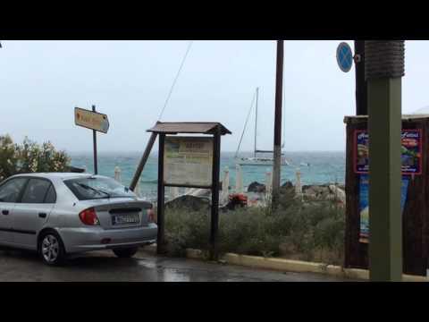 Sailboat stuck by lightning