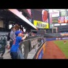 Scherzer plays catch with young Mets fan
