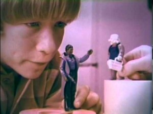 Vintage Star Wars figurines commercial