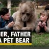 Russian family has pet bear