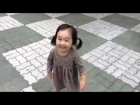 Adorable little girl can't stay mad with these shoes