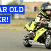 2 year old drives a motorcycle!