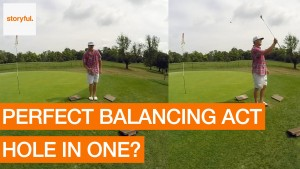 A contender for the all-time most stylish golf trick shot