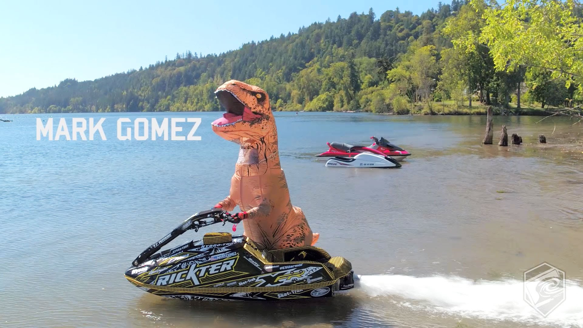 There's Nothing The Inflatable T-Rex Can't Do