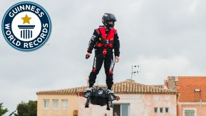 World record breaking hoverboard