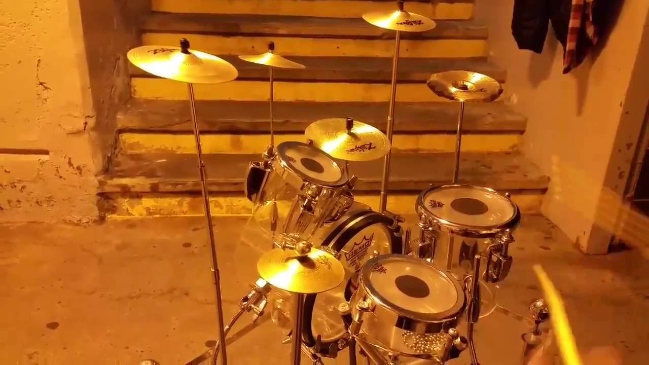 Lend a little ear to this short solo on a tiny drum set