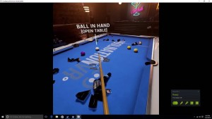 Testing a virtual reality pool game