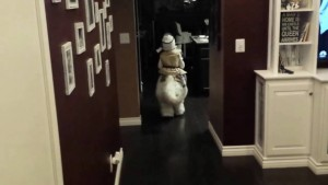 This kid has the best Star Wars costume ever!