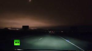 Meteor passing overhead