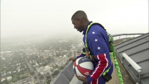 The Harlem Globetrotters made a 583-foot shot!