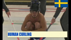 We think human curling is fake, but we're not sure…