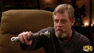 Mark Hamill reunites with his original lightsaber
