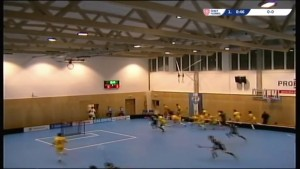 Roof collapsing during a floorball game