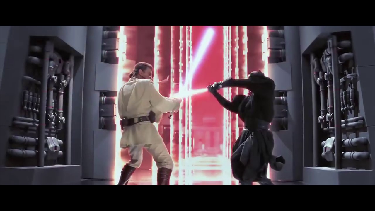 """Improving"" the sound effects in the Phantom Menace final fight scene"