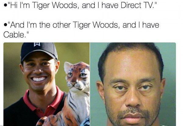 TheTango TigerWoods 0531201709 tiger woods' mugshot becomes instant meme after dui (2) the tango