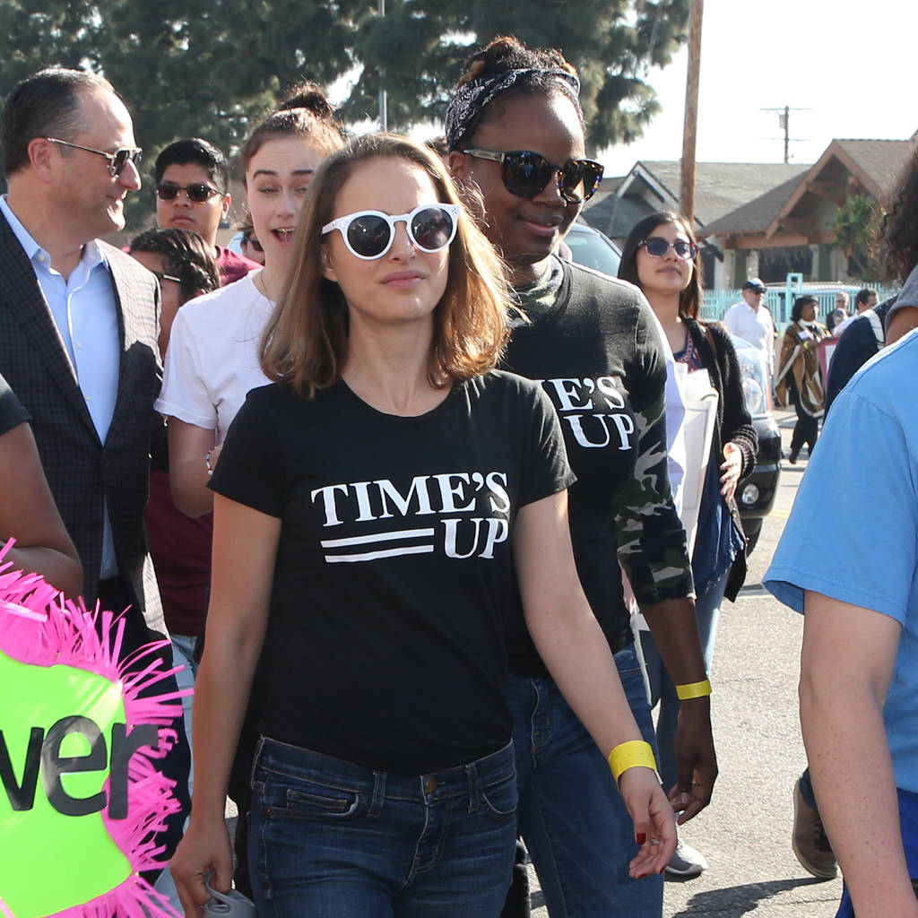 Quote Of The Day From The Los Angeles Times: Natalie Portman Marches For Time's Up At Kingdom Day